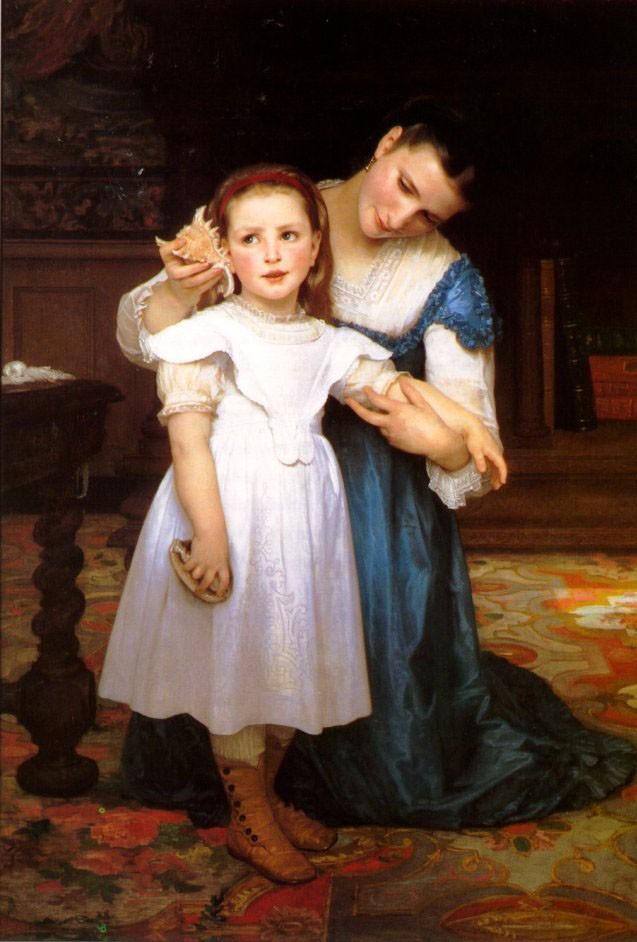 The Seashell, 1871, William Bouguereau